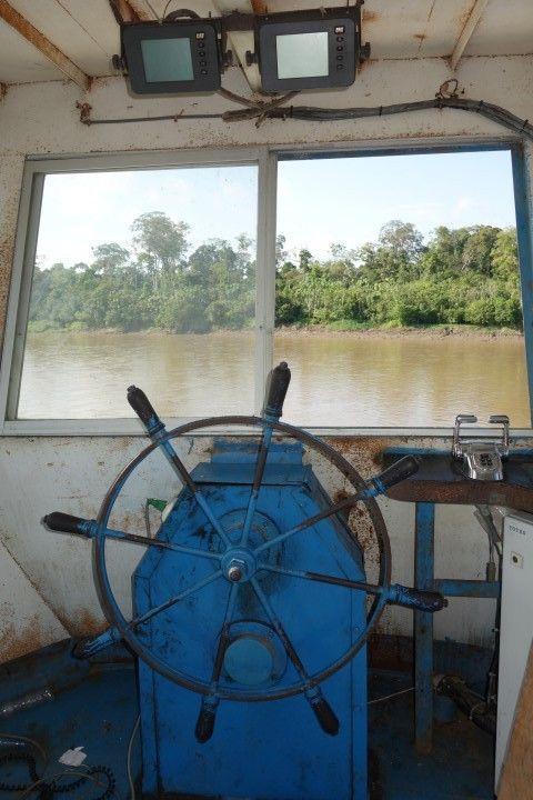 Perou- Amazonie: Plusieurs fois le capitaine du navire à quitter son poste! La preuve!