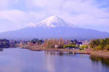 C'est sur le lac Kawaguchi ko que j'ai pu prendre mes plus belles photos du Mont Fuji. Photo tour du monde japon http://yoytourdumonde.fr