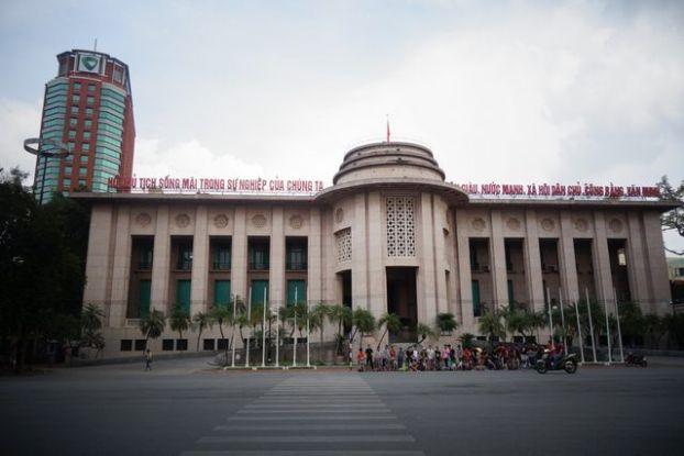 Hanoi- Vietnam: La gare d'Hanoi est typiquement de style communiste au niveau de l'architecture.