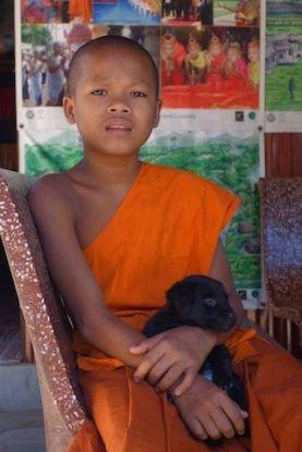 moine bouddhiste temple d'Angkor photo http://yoytourdudmonde.fr