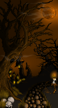 halloween background portrait