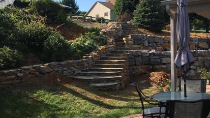 Garden Wall and Steps Project