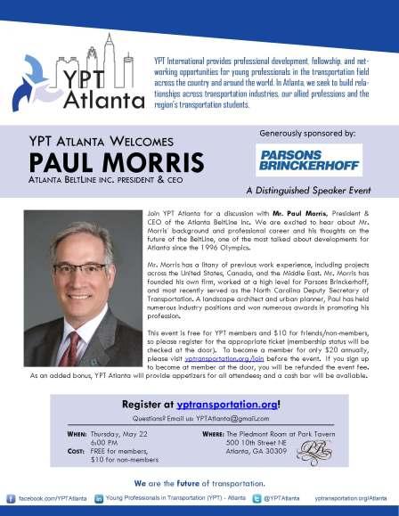 YPT Atlanta Welcomes Paul Morris