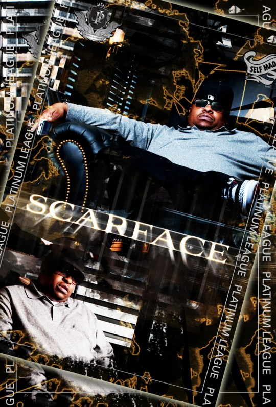 Scarface TPL card 540x797 - The Platinum League Trading Cards Immortalize Rappers Old and New
