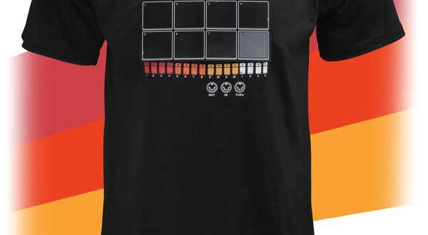 ebb1 drum machine shirt - ThinkGeek Electronic Drum Machine Shirt