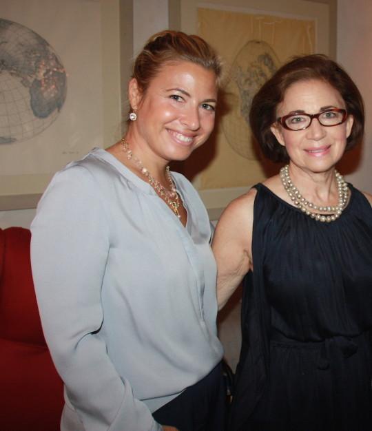 Elizabeth Jacoby and Beverly Schreiber 540x626 - Event Recap: Carmen Herrera Cocktails & Conversation @PublicolorNYC @MMViverito @The100YearsShow