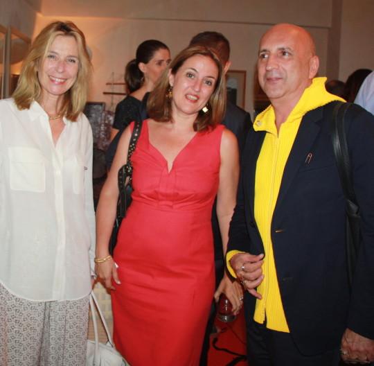 Pascale Richard Bénédicte de Montlaur Chus Burés 540x528 - Event Recap: Carmen Herrera Cocktails & Conversation @PublicolorNYC @MMViverito @The100YearsShow