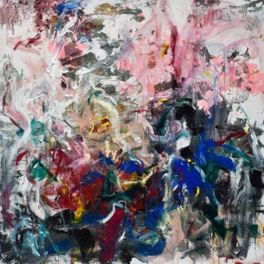 03. Olimpia Bera After Rain acrylic on canvas 100x100cm  540x541 - CON-FRONT EAST Exhibition November 4- November 26, 2017 at GALLERY RIVAA @icrny #rivaa #rooseveltisland