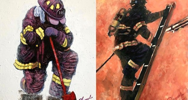 eh2 - Alexander Millar's Everyday Heroes Exhibition and Pop-Up Gallery April 4 - 20th, 2018 @vscorresponding @FDNYMuseum @AlexanderMillar @FDNY