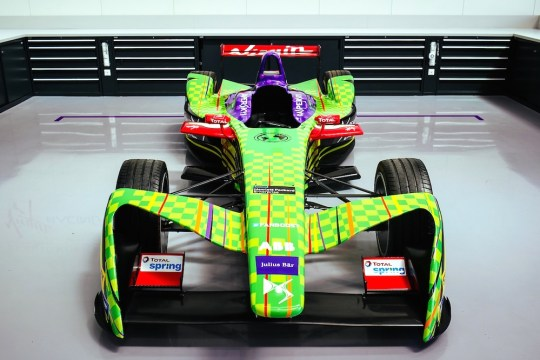 3. The teams Formula E car with the new livery 540x360 - Event Recap: Art Goes Green Event with @Kaspersky Lab @DSVirginRacing @DFaceOfficial at The @newmuseum @alexlynnracing @sambirdracing #FormulaE #NYCEPrix