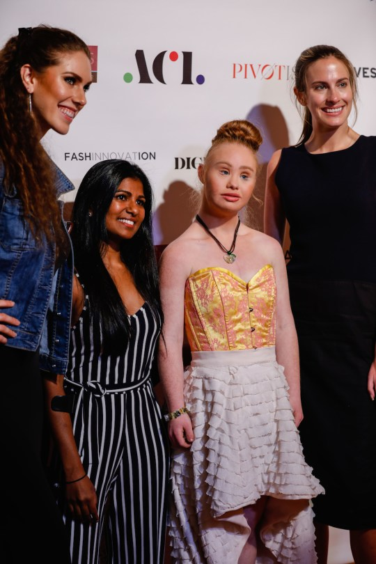 Rajee Aerie Aerie disability campaign model Madeline Stuart Australian model with down syndrome Christina Mallon director of Open Style Lab 540x810 - Event Recap: FASHINNOVATION @Fashinnovation_ @OpenStyleLab @RajeeAerie @ryanleslie @Madeline_Stuart @hickies #nyfw