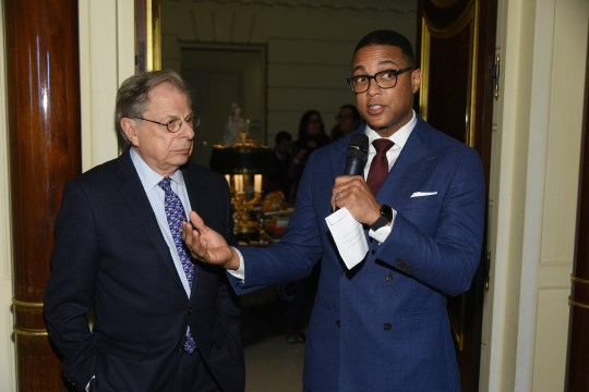 Dr Samuel Waxman with Don Lemon during presentation 540x360 - 6th Annual Collaborating For A Cure Ladies Luncheon To Benefit Cancer Research @donlemon @waxmancancer @lawlormedia