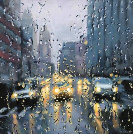 headlights crosswalk 540x544 - Karen Woods -  ...Going Exhibition November 5 - December 7, 2019 at George Billis Gallery