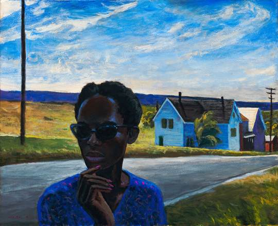 sundown town 16 x 20 1 540x439 - Mark Beck - American Narratives Exhibition October 1 - November 2, 2019 at George Billis Gallery