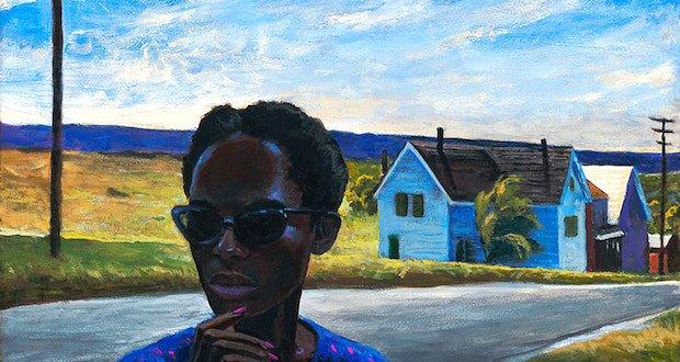 sundown town 16 x 20 - Mark Beck - American Narratives Exhibition October 1 - November 2, 2019 at George Billis Gallery