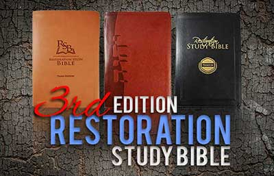 If you want a Bible that answers the hard questions, then the Restoration Study Bible is for you. This attractive resource offers insight and clarity found nowhere else. It is the result of 150 years of in-depth study spanning three generations. The Restoration Study Bible examines the source languages behind the English text to reveal original meanings.