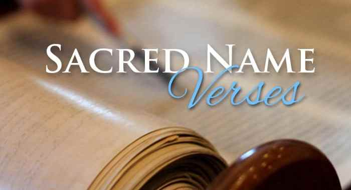 Scriptures About Using the Name Yahweh - Yahweh's Restoration Ministry