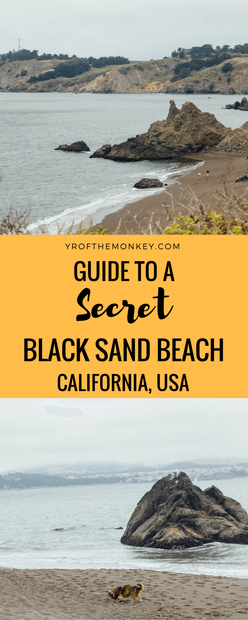 Want to escape to a secret, black sands beach in Northern California,USA for a romantic picnic? Even better, want to dip your toes in black sand? Read this post to discover a Black sand beach in Sausalito which is a local's secret and super hidden from touristy eyes. A short drive from San Francisco, this beach is one of the best kept secrets of the Bay Area! Pin this to your California board for a great day trip to Sausalito! #blacksandbeach #beach #california #bayarea #daytrip #californiatravelguide