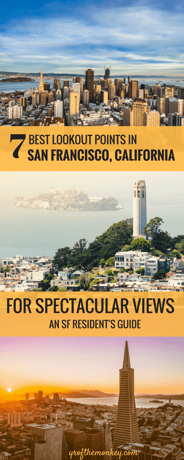 San Francisco Best Views and where to find them: Looking for the best panoramic views San Francisco? This local's guide tells you about some of the best San Francisco lookout points which are only known to SF residents! Read this insider guide to locate these spectacular Instagram worthy lookout points for photography and pin it to your San Francisco board. #sanfrancisco #lookoutpoints #bestviews #photography #california#instagrammable
