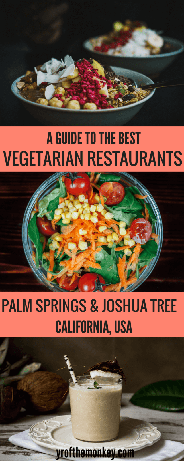 Vegetarian restaurants Palm Springs is your guide to the best Palm Springs vegetarian restaurants and those near Joshua Tree. Features vegetarian Joshua tree restaurants as well. A must read for those vegetarian foodies, pin this guide to your California travel board! #palmsprings #vegetarian #california #joshuatree #joshuatreenationalpark #vegetariandining