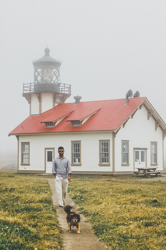 dog friendly Mendocino, dog friendly lighthouse, Point Cabrillo