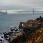 beach san francisco California pets sunset travel golden gate bridge