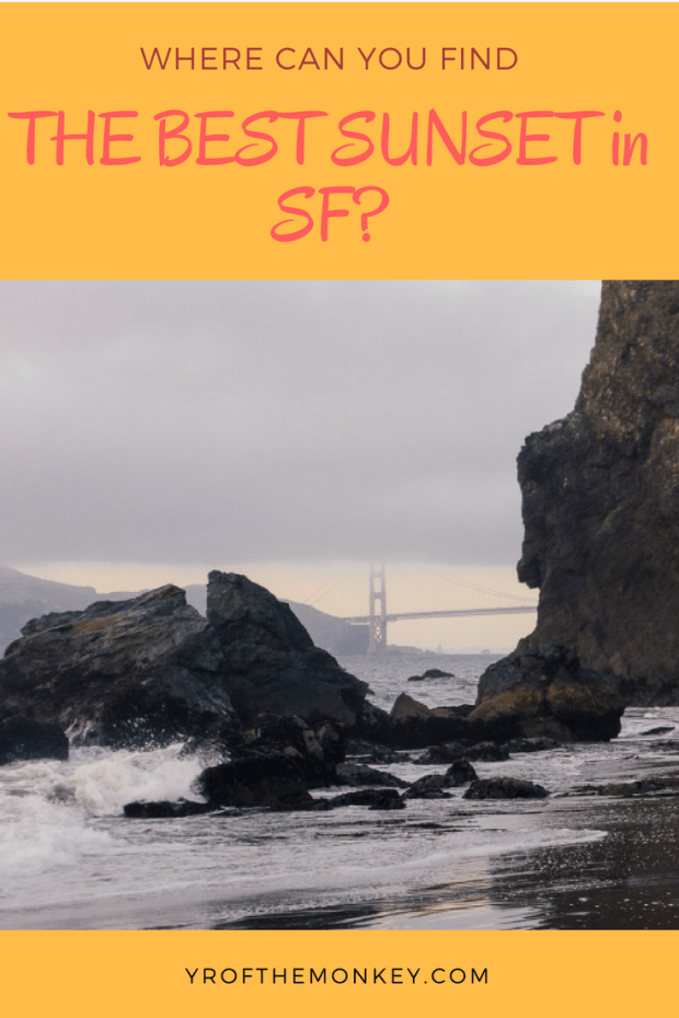 This is a local's guide to two hidden beaches in San Francisco, California, USA that double up as some of the best San Francisco sunset spots. Catch a gorgeous San Francisco sunset with a spectacular view of the Golden gate Bridge. One of the beaches is also dog friendly! Pin this to your California board now! #california #sanfrancisco #sanfranciscobeaches #sunset #USA #localsguide #likealocal #sfattractions