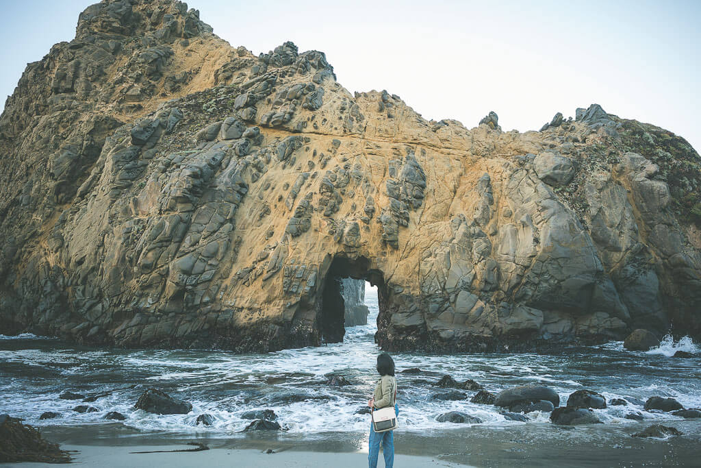 Big Sur road trip, stops: Pfeiffer Beach on Highway 1 is a must visit secluded beach