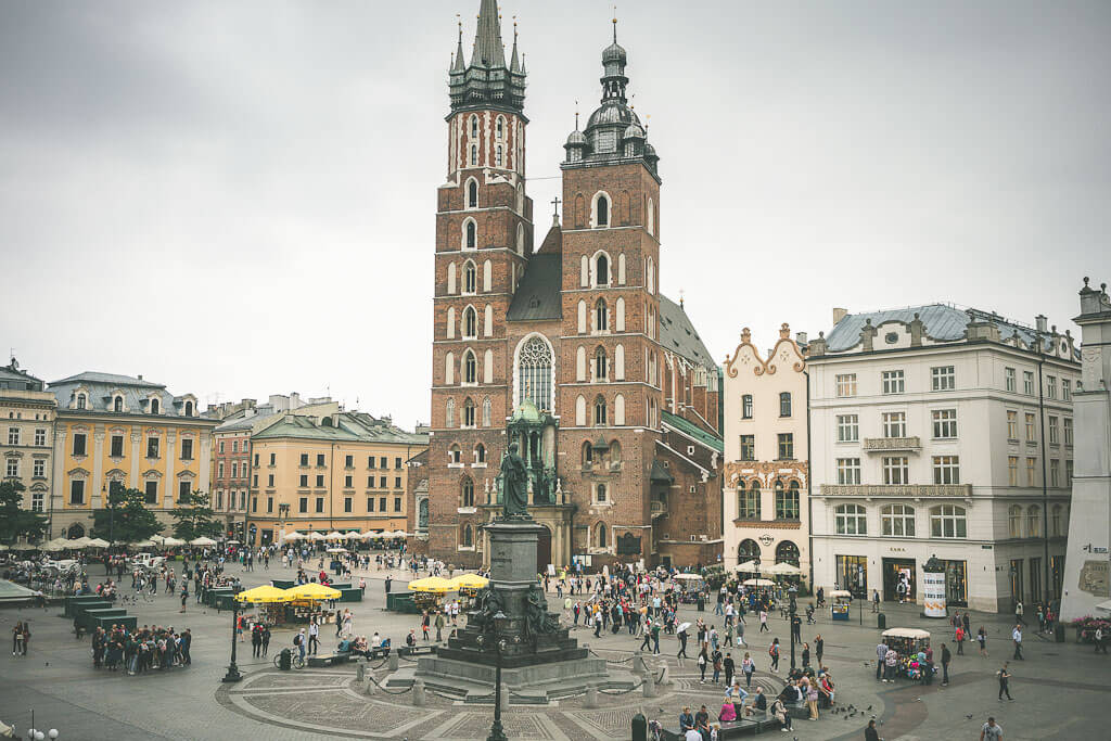 An offbeat guide to 3 days in Krakow, Poland. The Stary Miasto or old town is shown here.