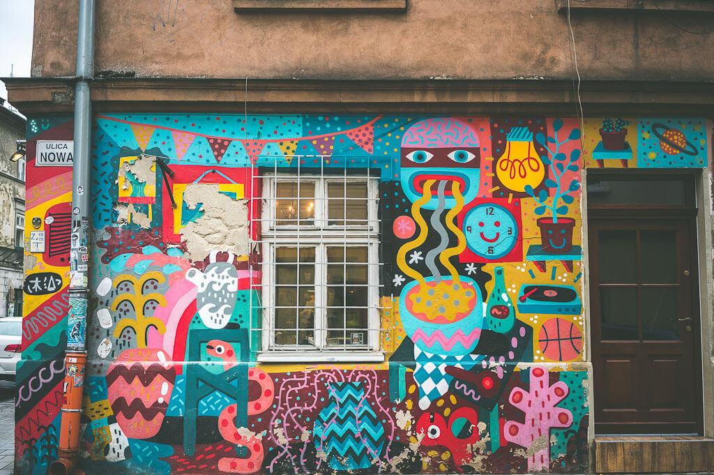 Murals in Kazimierz, Krakow. Offbeat guide to 3 days in Krakow, Poland