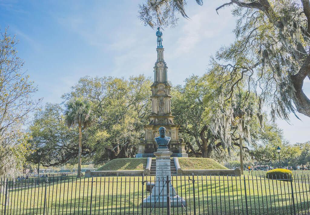 Forsyth fountain at Forsyth park, Savannah, Georgia