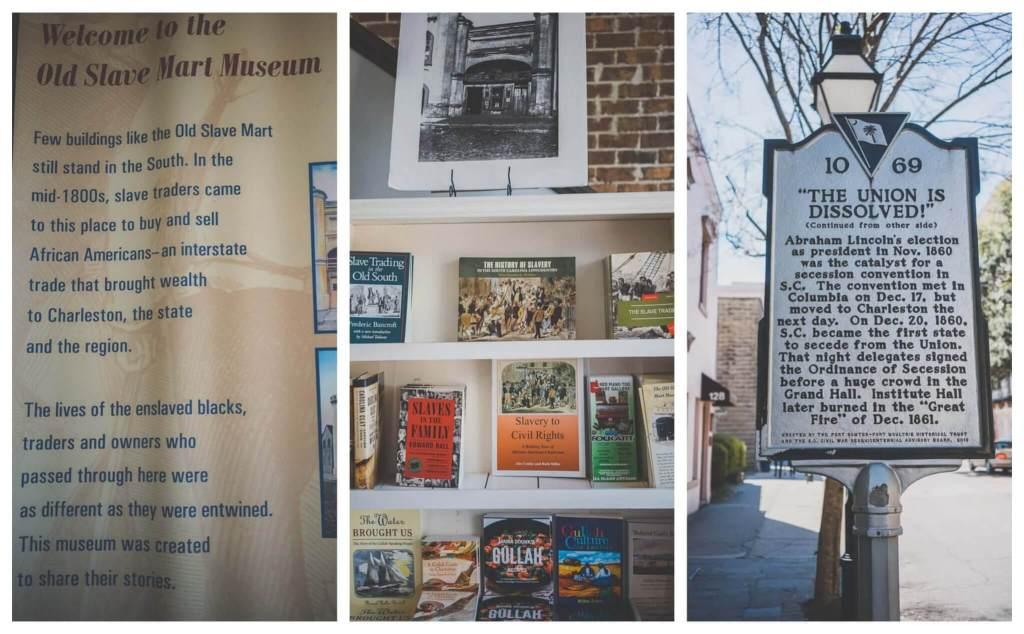 Charleston history: Old slave mart museum Charleston