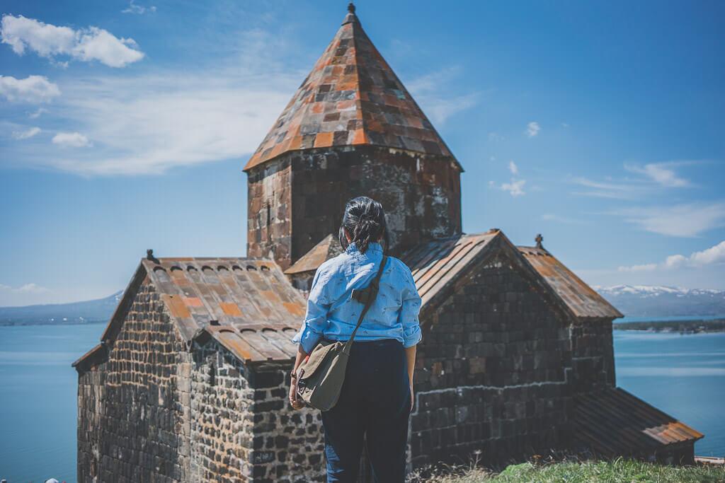 Lake Sevan and Sevanavank monastery, Armenia