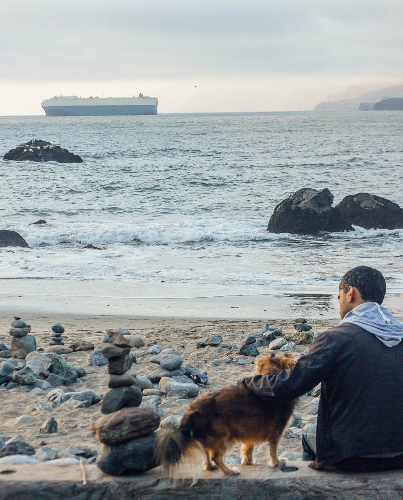 Mile Rock beach is one of the best kept secrets of San Francisco and is a dog friendly beach