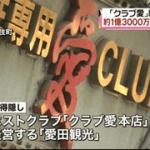「クラブ愛本店」 1億3千万円の所得隠し