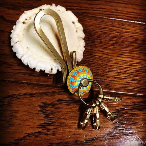 #keyholder #beadswork #leathercraft #handmade #buffalotracks