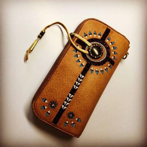 #wallet #インレイ #beadwork #leathercraft #handmade #buffalotracks #ご注文ありがとうございました