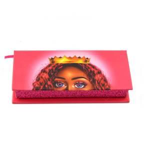 red rectangular clamshell box