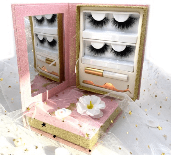 eyelash cases with mirrors