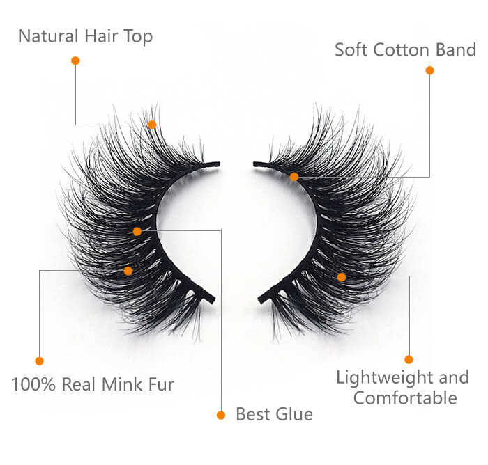 our hot selling faux mink eyelash