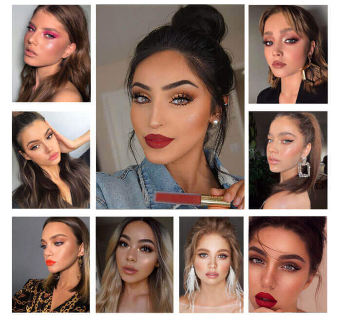 Mink eyelashes model show