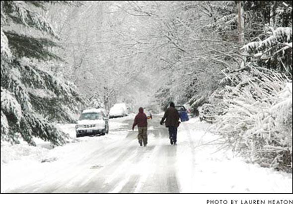 Shovelin' in a winter wonderland