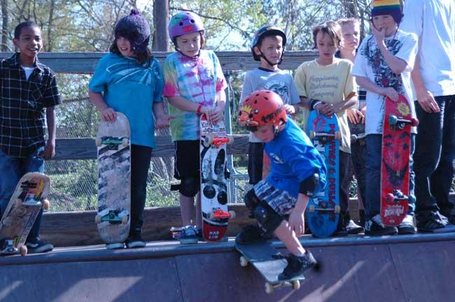 Tricksters skate to springtime tunes