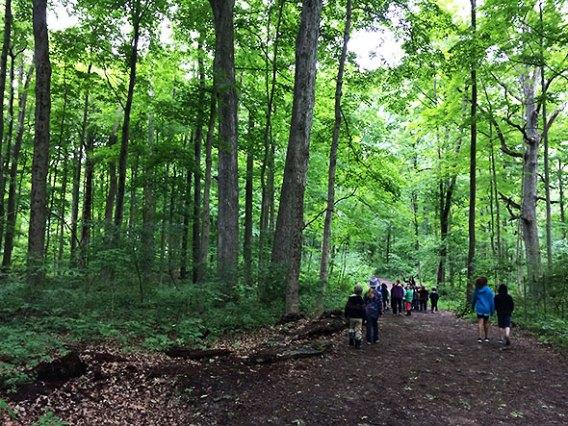 walking near the Indian Mound