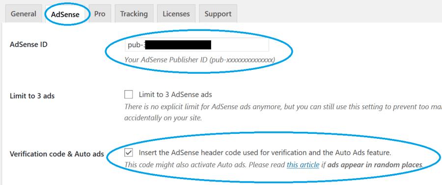 填入 Adsense ID 及剔選 Verification Code & Auto ads