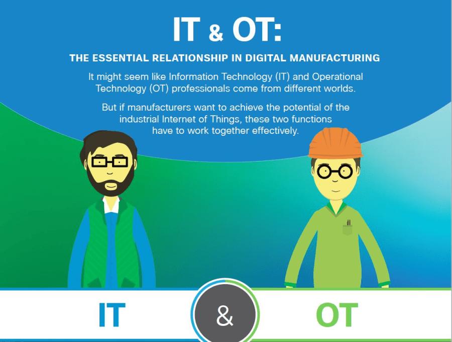 IT 和 OT 需要攜手合作,方能達到工業物聯網的潛在效益