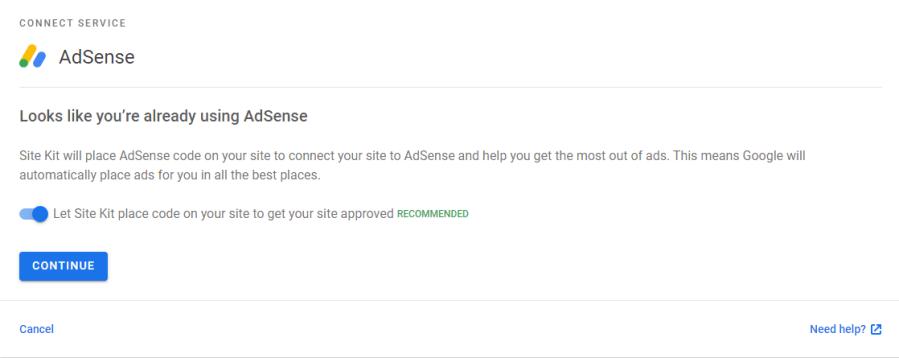 返回 WordPress 後台,可見 Adsense 會查詢用戶是否為網站加入程式碼,以啟用自動廣告。由於本網已透過 Advanced Ads 啟用 Adsense 自動廣告,所以可以取消該選項,但如果用戶有需要,亦可保持開啟。