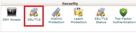 進入 cPanel 的 SSL/TSL