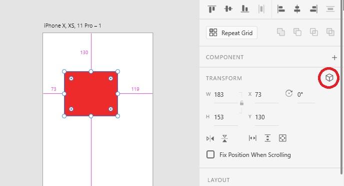 點擊立方體啟用 3D Transforms 功能