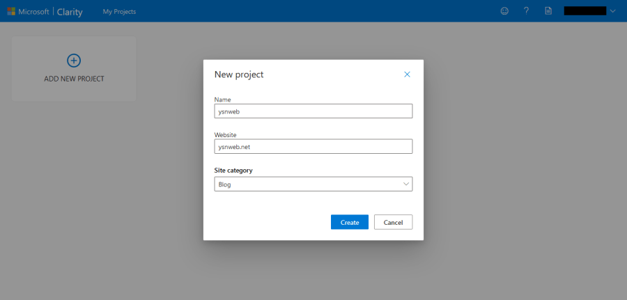 在 Microsoft Clarity 新增項目